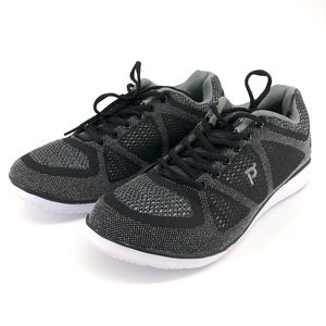 Propet travel fit shoes black gray 11 3E(X)